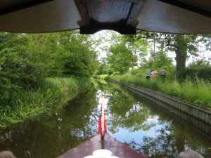 Perfectly still, chill out on the relaxing Montgomery Canal in Shropshire