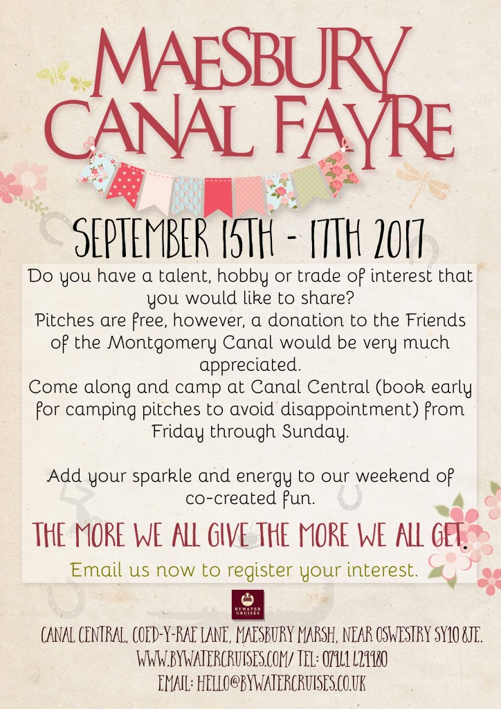 Canal Fest Poster 2017 register interest