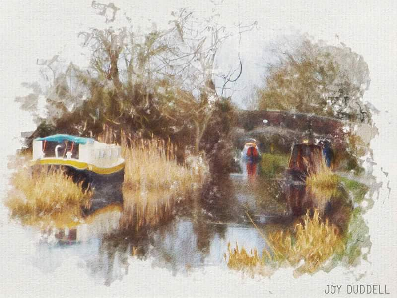 Joy Duddell Bywater Cruises Watercolour